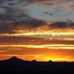 "Sunset over the ""Scenic Rim"" taken from the slopes of Mt Tamborine"