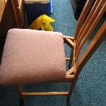 Broken chair in the room.