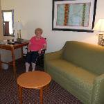 Separate sitting area
