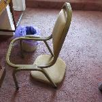 the chair i sat on that fell through when sat on.