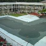 "Pool closed, no signs of ""renovation"""