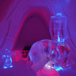 Just one of the many ice hotel rooms, impressive!
