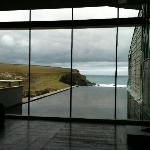 The lobby view