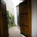 Private entrance into one of the three Gardens rooms.