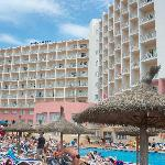 pool and hotel from beach side