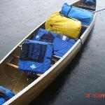 Our canoe - a 4 seater.  Kevlar (perfect and light)