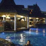 the pool bar in the evening owsme