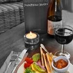 Pate and wine