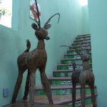 le scale che portano alla camera GIALLA..