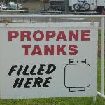 Propane Tanks filled here!