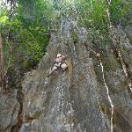 climbing the rock!