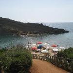 Walk down to White Rocks private beach