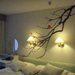 chambre double vue sur court intérieur
