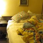 The bed (after I had slept in it).
