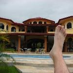 The pool and my foot