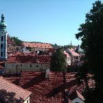 Blick von der Terrasse auf die Altstadt