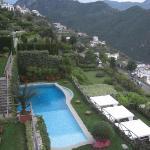 The hotel (Palazzo Sasso)'s pool area