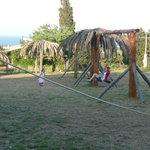 The playground - view towards Geraks beach
