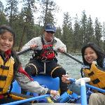 On the lower Spokane River with our guide