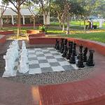 The Chess board life size