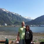 We stood out front showing our view of Juneau