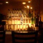 the fully stocked bar