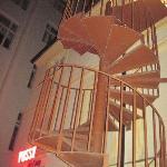 L'escalier d'accés à la chambre