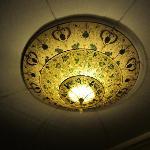 Lightshade in hallway.