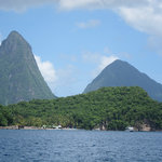 the majestic Pitons