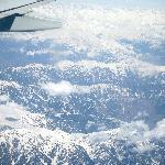 Mighty Himalaya´s from the plane on a flight to Srinagar