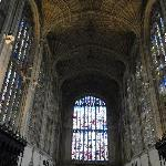 Exquisite stained glass and fan vaulted ceiling