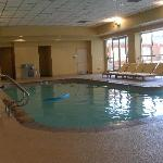 Indoor pool leading to outdoor pool