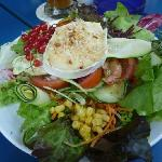 Salad with goat cheese...the best!