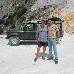 Our specialist guide & Marco in Carrara mountians