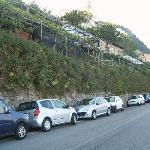 parking along main road