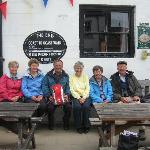 Dyllis and the group of friends she walked the coast to coast route with