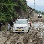 stuck on the way to Lachung