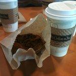 pecan pastry and medium coffee
