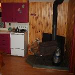 pictures of the kitchen and fire place