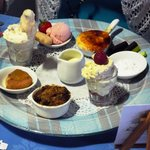 Sweet:  A pudding platter