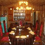 The Dining Room of Meena Houseboat