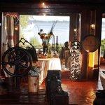 Rustic nautical themed interior.