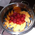 Beautiful fresh fruit served every morning