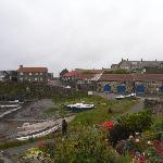 Craster village, 10 mins walk