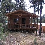 our cabin up the hill