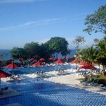 Vista de la zona de piscina