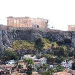View of Acropolis and Parthenon from GB Roof Garden - Hotel Grande Bretagne