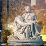"Michaelangelo's ""Pieta"" in Basilica di San Pietro (31857081)"