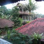 vue sur les chambres depuis notre terrasse
