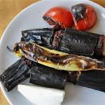 Main Course: Kebab with aubergine